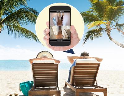 Ferien mit Palme und Handykamera 400x311